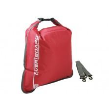 Водонепроницаемый гермомешок (с плечевым ремнем) OverBoard OB1004R - Waterproof Dry Flat Bag - 15L (Red)