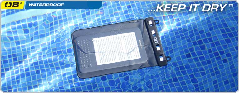 Waterproof eBook / Kindle Case - Black